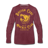 Boston Cubs Long Sleeve T-Shirt (Premium) - heather burgundy