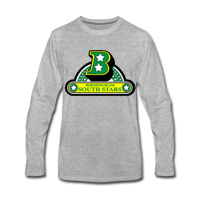 Birmingham South Stars Long Sleeve T-Shirt (Premium) - heather gray