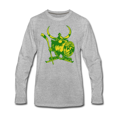 Buffalo Norsemen Long Sleeve T-Shirt (Premium) - heather gray