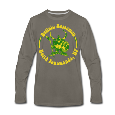 Buffalo Norsemen Long Sleeve T-Shirt (premium) - asphalt gray