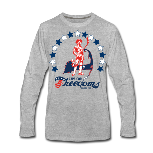 Cape Cod Freedoms Long Sleeve T-Shirt (Premium) - heather gray