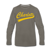 Charlotte Clippers Long Sleeve T-Shirt (Premium) - asphalt gray