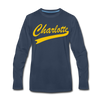 Charlotte Clippers Long Sleeve T-Shirt (Premium) - navy