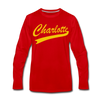 Charlotte Clippers Long Sleeve T-Shirt (Premium) - red