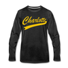 Charlotte Clippers Long Sleeve T-Shirt (Premium) - charcoal gray