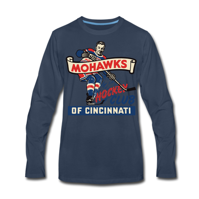 Cincinnati Mohawks Long Sleeve T-Shirt (Premium) - navy