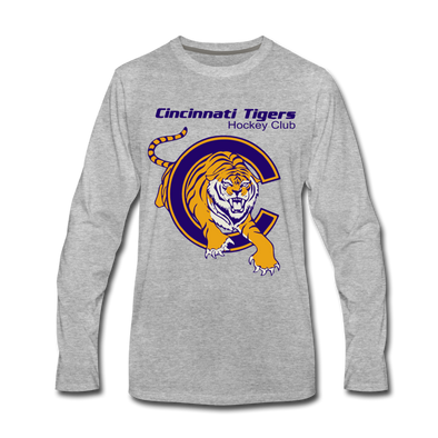 Cincinnati TIgers Long Sleeve T-Shirt (Premium) - heather gray