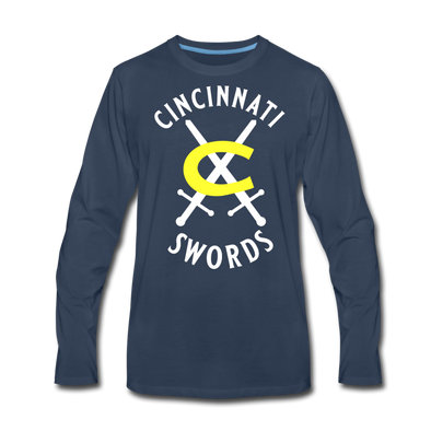 Cincinnati Swords Long Sleeve T-Shirt (Premium) - navy