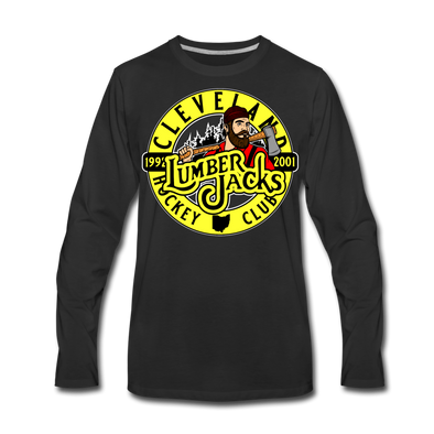 Cleveland Lumberjacks Circular Long Sleeve T-Shirt (Premium) - black