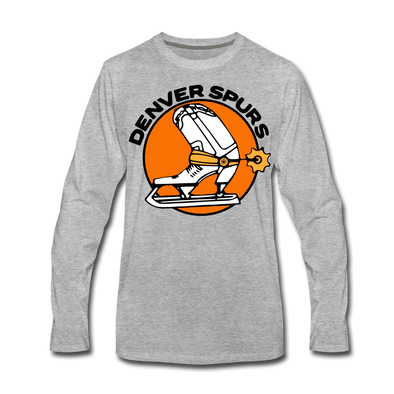 Denver Spurs Long Sleeve T-Shirt (Premium) - heather gray