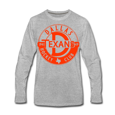 Dallas Texans Circular Dated T-Shirt (Premium) - heather gray