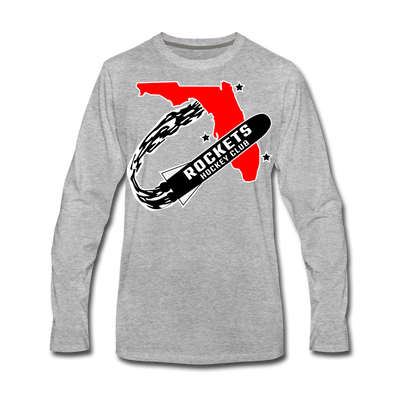 Florida Rockets Long Sleeve T-Shirt (Premium) - heather gray