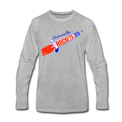 Jacksonville Rockets Long Sleeve T-Shirt (Premium) - heather gray