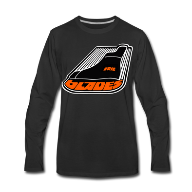 Erie Blades Long Sleeve T-Shirt (Premium) - black