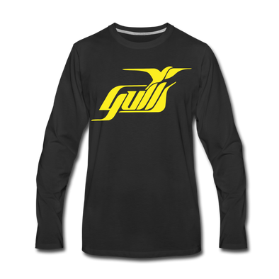 Hampton Gulls Long Sleeve T-Shirt (Premium) - black
