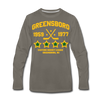 Greensboro Hockey Club Long Sleeve T-Shirt (Premium) - asphalt gray