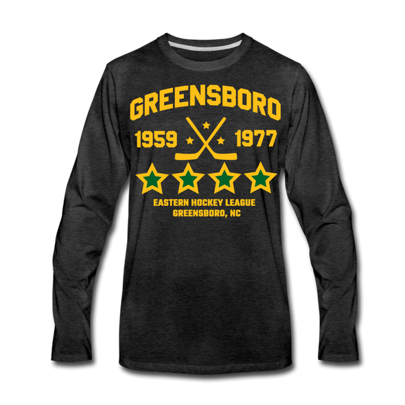 Greensboro Hockey Club Long Sleeve T-Shirt (Premium) - charcoal gray