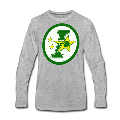 Iowa Stars Long Sleeve T-Shirt (Premium) - heather gray