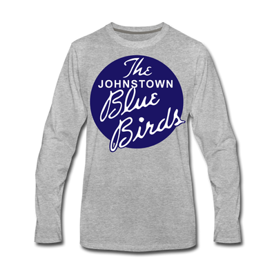 Johnstown Blue Birds Long Sleeve T-Shirt (Premium) - heather gray