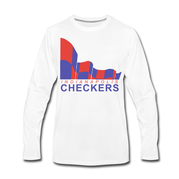 Indianapolis Checkers Long Sleeve T-Shirt (premium) - white