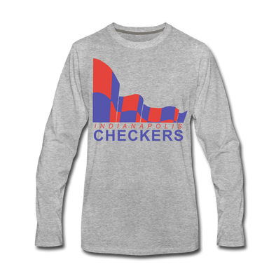 Indianapolis Checkers Long Sleeve T-Shirt (premium) - heather gray