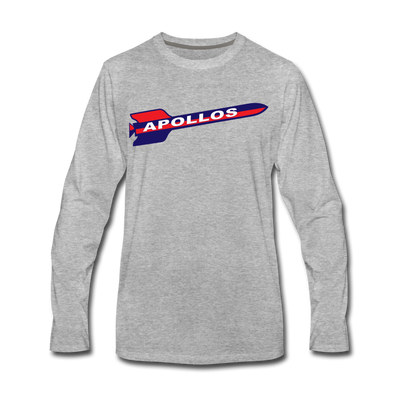 Houston Apollos Rocket Design Long Sleeve T-Shirt (Premium) - heather gray