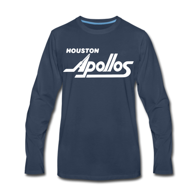 Houston Apollos White Design Long Sleeve T-Shirt (Premium) - navy