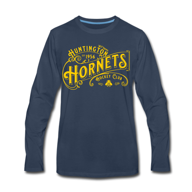 Huntington Hornets Long Sleeve T-Shirt (Premium) - navy