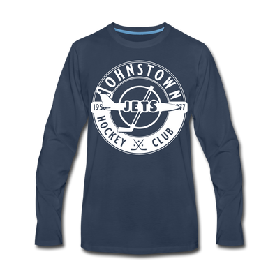 Johnstown Jets Circular Dated Long Sleeve T-Shirt (Premium) - navy