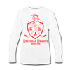 Knoxville Knights Coat of Arms Long Sleeve T-Shirt (Premium) - white
