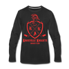 Knoxville Knights Coat of Arms Long Sleeve T-Shirt (Premium) - black