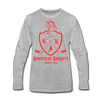 Knoxville Knights Coat of Arms Long Sleeve T-Shirt (Premium) - heather gray