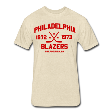 Philadelphia Blazers Dated T-Shirt (WHA) (Premium) - heather cream