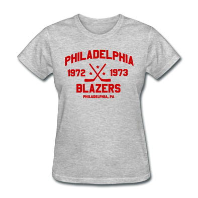 Philadelphia Blazers Dated Women's T-Shirt (WHA) - heather gray