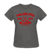 Philadelphia Blazers Dated Women's T-Shirt (WHA) - charcoal
