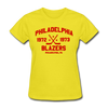 Philadelphia Blazers Dated Women's T-Shirt (WHA) - yellow
