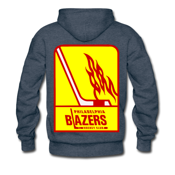 Philadelphia Blazers Double Sided Premium Hoodie - heather denim
