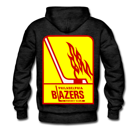 Philadelphia Blazers Double Sided Premium Hoodie - charcoal gray
