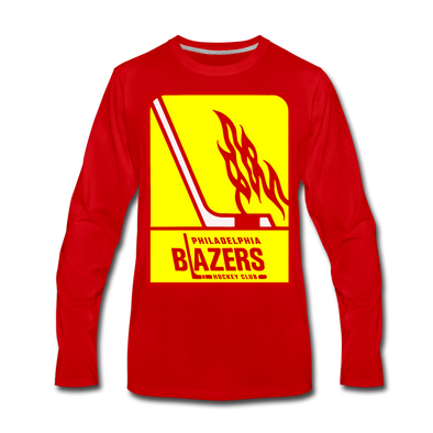 Philadelphia Blazers Long Sleeve T-Shirt - red