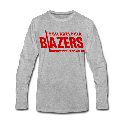 Philadelphia Blazers Text Long Sleeve T-Shirt - heather gray