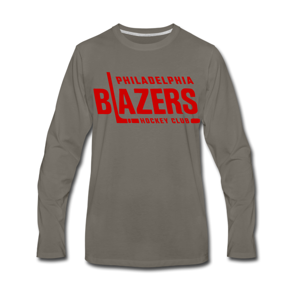 Philadelphia Blazers Text Long Sleeve T-Shirt - asphalt gray