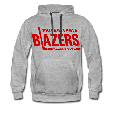 Philadelphia Blazers Text Hoodie (Premium) - heather gray