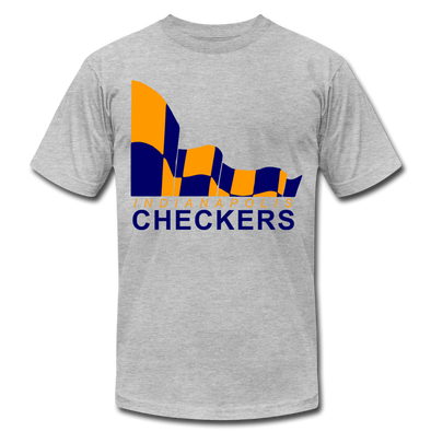 Indianapolis Checkers Orange T-Shirt (PremiuM) - heather gray