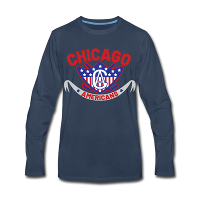 Chicago Americans Long Sleeve T-Shirt - navy