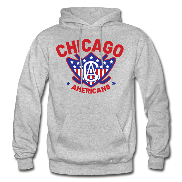 Chicago Americans Hoodie - heather gray