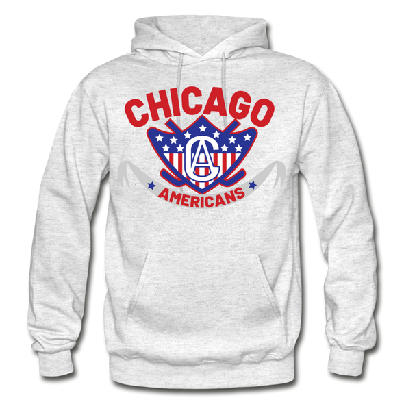 Chicago Americans Hoodie - light heather gray