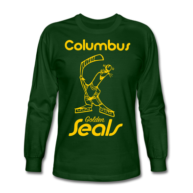 Columbus Golden Seals Long Sleeve T-Shirt - forest green