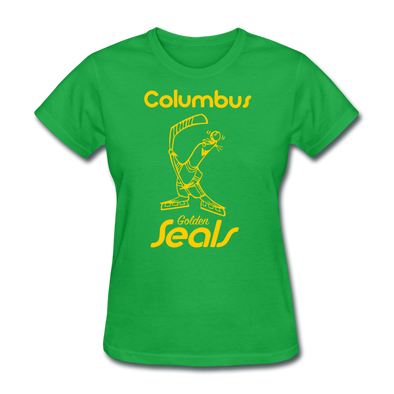 Columbus Golden Seals Women's T-Shirt - bright green