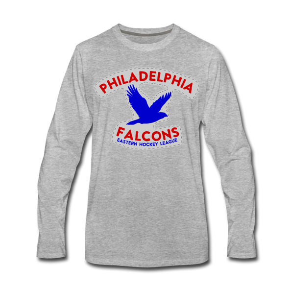 Philadelphia Falcons Long Sleeve T-Shirt - heather gray