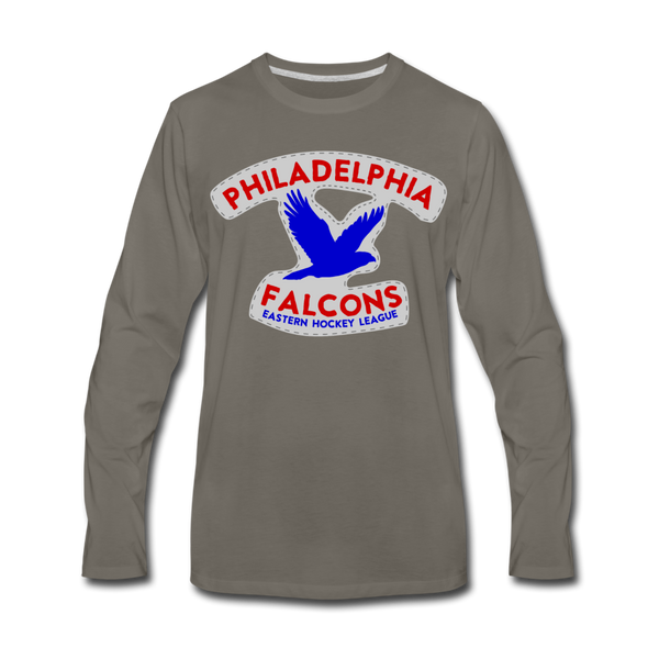 Philadelphia Falcons Long Sleeve T-Shirt - asphalt gray